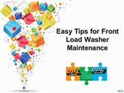 Easy Tips for Front Load Washer Maintenance