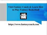 How To Play Fantasy Basketball