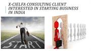 Want to Start Business in India visit X-CielFA