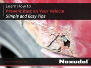 Simple Tips to Take Care Your Vehicle from Rust