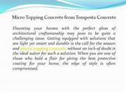 Micro Topping Concrete from Tempesta Concrete