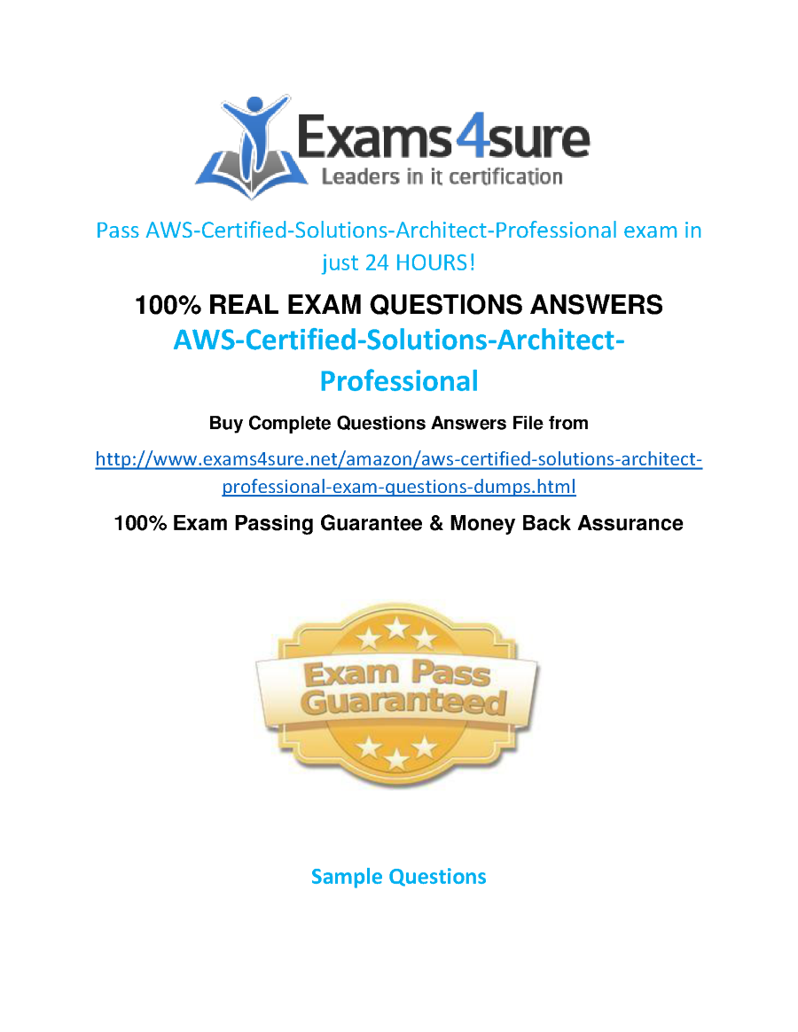 Aws solutions architect professional practice questions authorstream xflitez Gallery