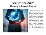 Andrew Konomanyi Building a Business Empire