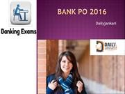Bank Po 2016 - daily jankari