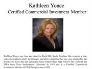 Kathleen Yonce Certified Commercial Investment Member