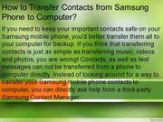 How to Transfer Contacts from Samsung Phone to Computer
