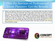 Hire the Services of Professional Event Planners Get the Benefit