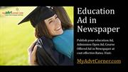 Education-Newspaper-Advertisement-Booking