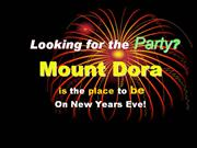 Mount Dora city New Years eve party