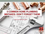 5 Common Home Plumbing Mistakes - Don't forget them