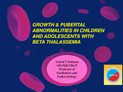 Growth and GH-IGF-I axis in Thalassemia Major