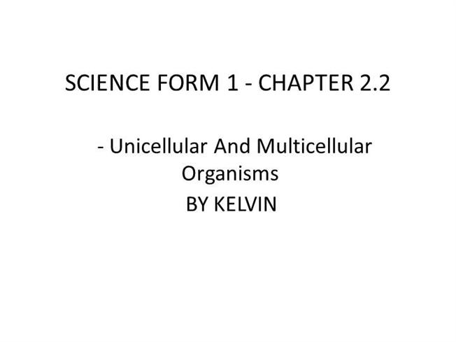 Science Form 1 Chapter 2 By Kelvin Authorstream