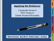 Systematic Review of TENS on Peripheral Diabetic Neuropathy