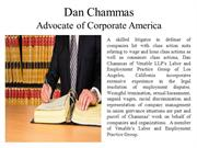 Dan Chammas Advocate of Corporate America