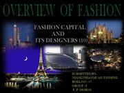 OVERVIEW OF FASHION