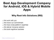Best App Development Company for Android, iOS & Hybrid Mobile Apps