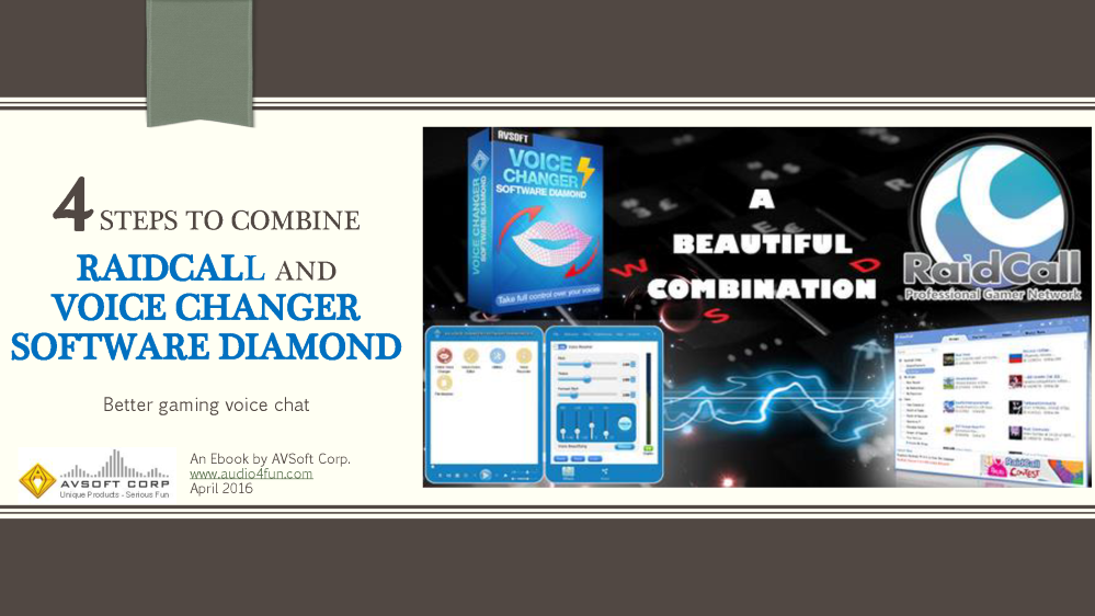 Combine Raidcall And Voice Changer Software Diamond |authorSTREAM