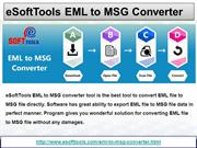 Convert EML to MSG File Using EML to MSG Converter