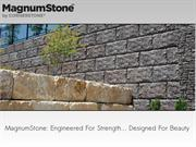 MagnumStone tall retaining wall systems