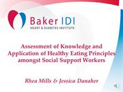 Baker IDI- Social Support Workers and Nutrition Care