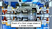 Crack of steam turbine blade