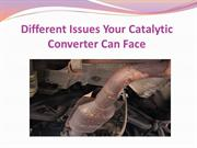 Different Issues Your Catalytic Converter Can Face