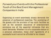 Forward your Events with the Professional Touch of the Best Event Mana