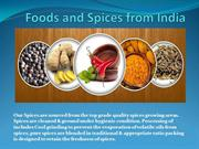 Foods and Spices from India