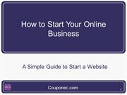 How to start your online business- couponec
