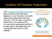 Academy Of Customer Experience