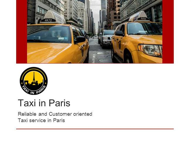 Online Cab Booking Process in Taxi in Paristransport Company