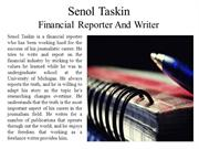 Senol Taskin Financial Reporter And Writer