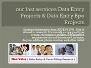 our fast services Data Entry Projects & Data
