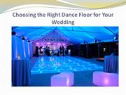 Choosing the Right Dance Floor for Your Wedding
