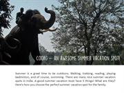 Coorg as holiday spot