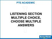 Tuesday PTE Listening (Multiple Choice - Choose Multiple Answers-4) -