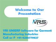 VRS Manufacturing ERP Software for Apparel Industries
