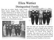 Eliza Wattiez And Her Distinguished Family