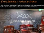 Team Building Activities in Sydney