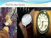Find The Best Quality Casual Watches Online