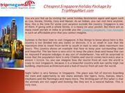 Cheapest Singapore Holiday Package by TripMegaMart