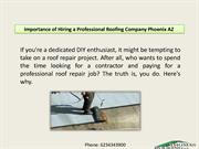 Importance of Hiring a Professional Roofing Company Phoenix