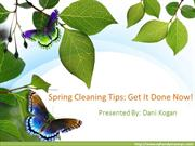 Spring Cleaning Tips - Get It Done Now