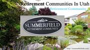 Retirement Communities In Utah