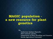 MAGIC population - a new resource for plant genetics