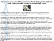Personal Injury Law Firm Offering Recent Car Accident Injury Victims