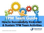 TPM Team Guide by Operational Excellence Consulting