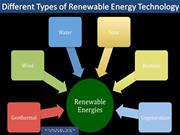 Different Types of Renewable Energy Technology