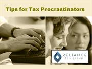 Last Minute Tips for Tax Procrastinators