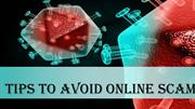 Tips to avoid Online Scam